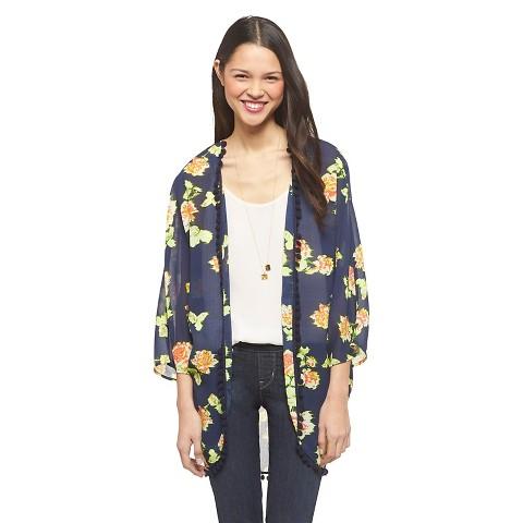 Pom Pom Kimono Jacket - Xhilaration®