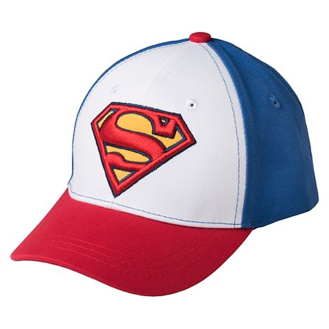 toddler boys superman baseball hat blue