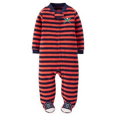 Just One You™Made by Carter's® Newborn Boys' Sports Striped Sleep N' Play - Anthem Red NB