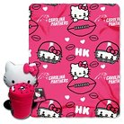 Carolina Panthers Hello Kitty Blanket and Hugger Bundle (40  x 50 )