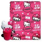 Bengals Hello Kitty Blanket and Hugger Bundle (40 x 50)