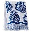 Thrshld Paisley Towels- Wht/Blue