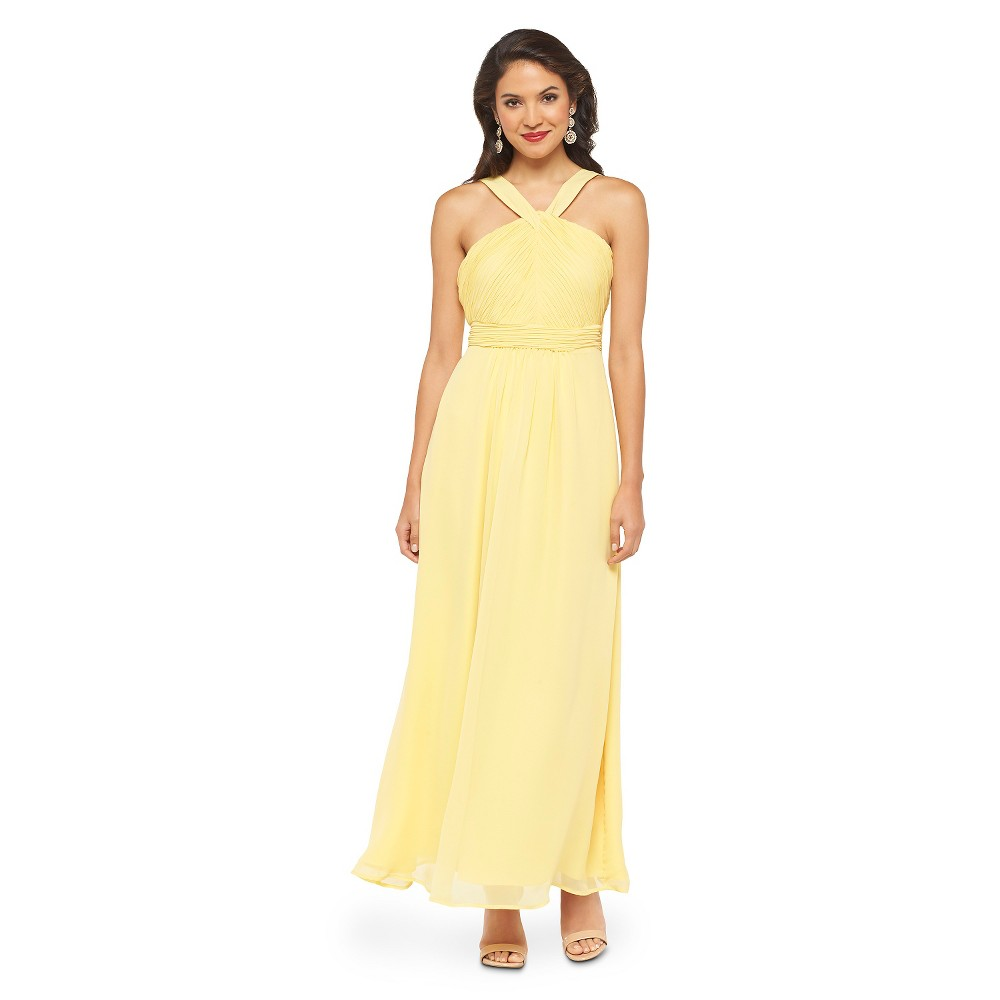 8703b314b2 Photo for Women s Chiffon Halter Maxi Bridesmaid Dress Calm Yellow 4 -  Tevolio