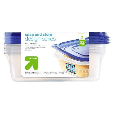 Designer Entrée Food Storage Container - 4 ct - up & up™