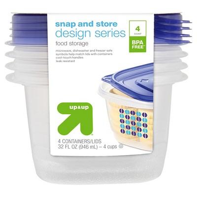up & up™ Designer Medium Square Container - 4 ct