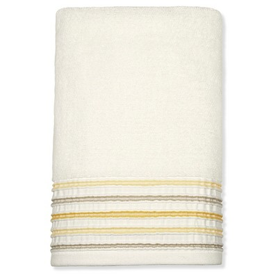 Bath Towel Yellow Pleat Stripe - Threshold™