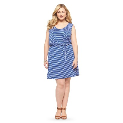 Plus Size Sleeveless Knit Dress Blue/White Mossimo Supply Co.