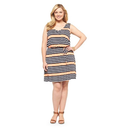 Plus Size Sleeveless Knit Dress Orange/Multi Mossimo Supply Co.