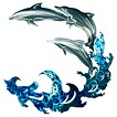 3D Wall Art Dolphin - Large
