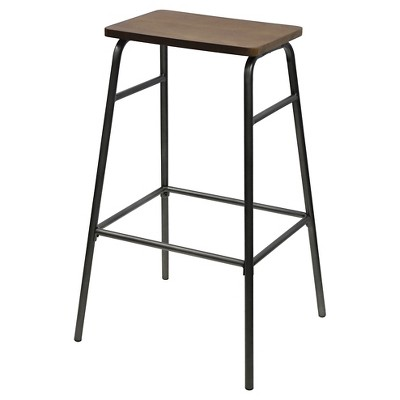 "Mixed Material 29"" Barstool Metal/Coal -Threshold™"