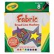 Crayola 8ct Broadline Fabric Markers