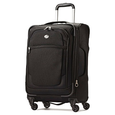 "American Tourister iLite Xtreme 21"" Carry On Spinner Luggage - Black"