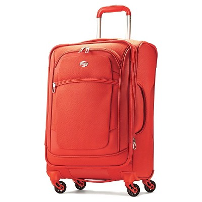 "American Tourister iLite Xtreme 21"" Carry On Spinner Luggage - Orange"