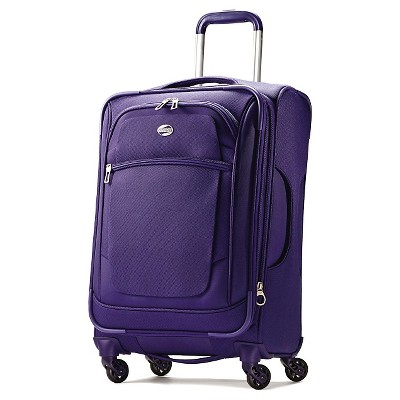 """American Tourister 21"""" Carry On iLite Xtreme Spinner Luggage Purple"""