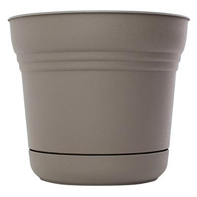 """Bloem 14"""" Saturn Planter - Peppercorn Brown"""