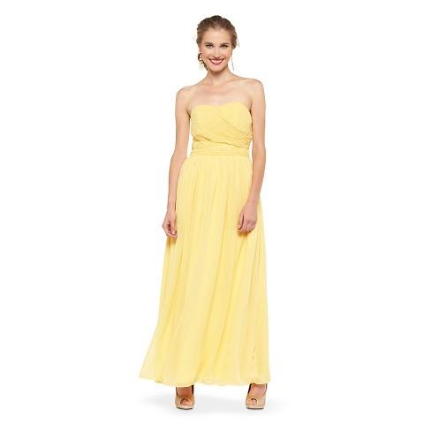 Yellow Bridesmaid Dresses Target 48