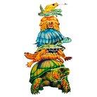 Turtle Totem 3D Wall Art