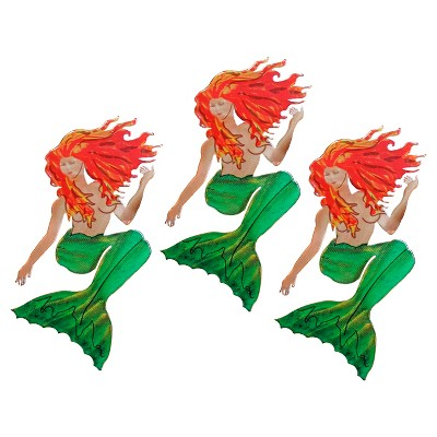 3D Wall Art Mermaid Set of 3 - Small