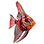 3D Wall Art Tetra Fish - Purple (Medium)