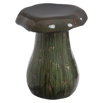 Green Ceramic Mushroom Garden Stool