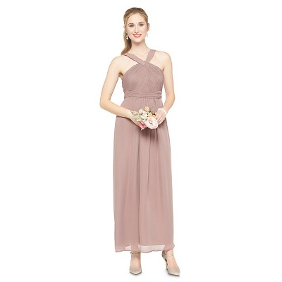 Women's Chiffon Halter Maxi Bridesmaid Dress 14 - TEVOLIO™