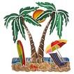3D Wall Art Palms - Large