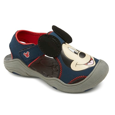 8dce5edb4ad0 Toddler Boy s Mickey Mouse Hiking Sandals - Navy   Target