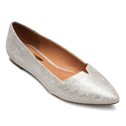 Glitter Pointed Ballet Flats Robin Pointed Ballet Flats