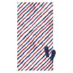 American Stripe Beach Towel - Blue/Red