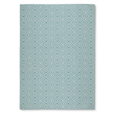 Threshold™ Indoor/Outdoor Flatweave Diamond Area Rug - Turquoise (7'x10')