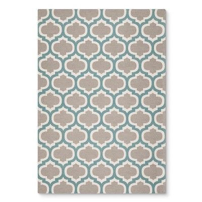 Threshold™ Indoor Outdoor Flatweave Fretwork Area Rug - Aqua (5'X7')