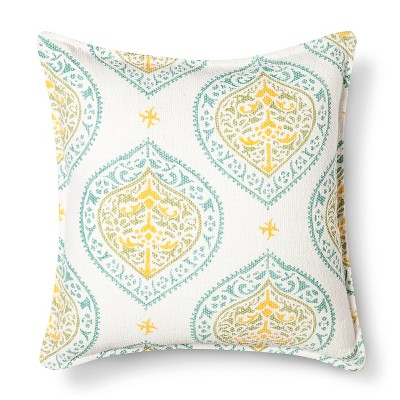 18x18 Paisley Print Woven Decorative Pillow