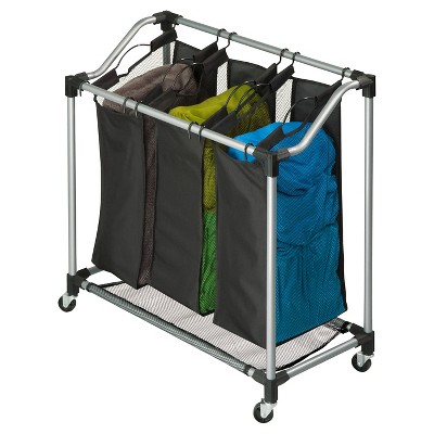 Honey-Can-Do Steel Elite Triple Sorter - Black