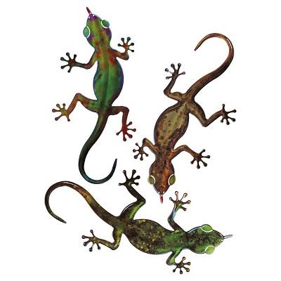 3D Wall Art Gecko Set of 3 - Small