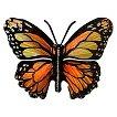 3D Wall Art Butterfly Monarch