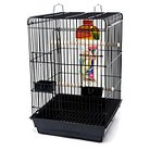 Penn-Plax Square Top Bird Cage Kit - Black