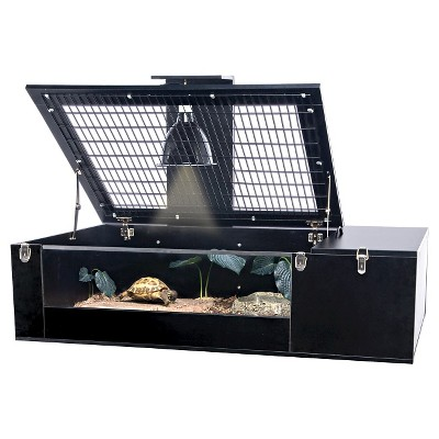 Reptology Life Science Tortoise Palace Pet House - Black