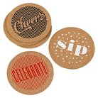 Celebrate Cork Coaster Set - Brown