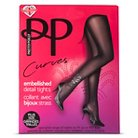 Pretty Polly Curves Women's Plus-Size Embellished Detail Tights - Black XXL