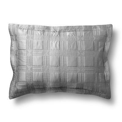 Silk Allure Grid Sham Standard Gray - Fieldcrest™