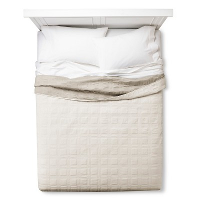 Silk Allure Grid Quilt Queen Cream - Fieldcrest™