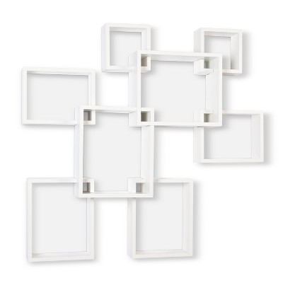 Threshold™ 8 Cube Interlocking Display Shelf - White