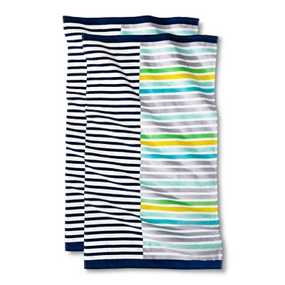 Cool Stripe Mash-Up Beach Towel - 2-pk.