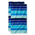 Cool Rugby Stripe Beach Towel - 2-pk.