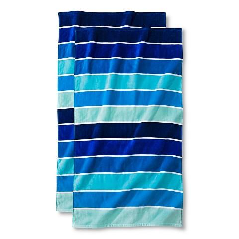 rugby stripe towels