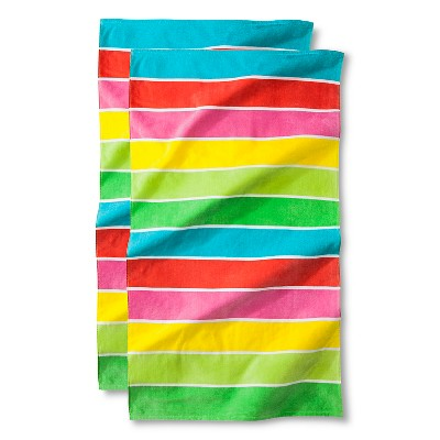 Warm Rugby Stripe Beach Towel - 2-pk.