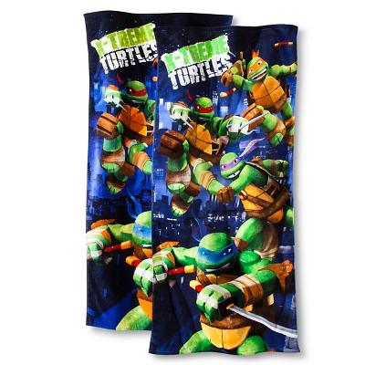 Teenage Mutant Ninja Turtles® Heroes Beach Towel 2-pk. - Navy/Green