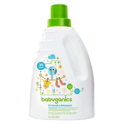 Babyganics 3x Baby Laundry Detergent, Fragrance Free - 35oz Bottle