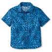 Toddler Boys' Hawaiian Button Down - Midday Blue