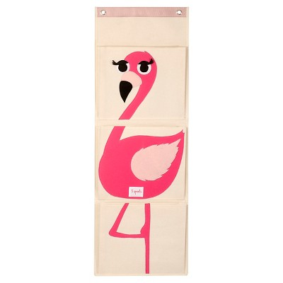 3 Sprouts Hanging Storage Organizer - Flamingo